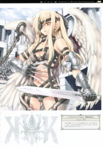 Rating: Safe Score: 15 Tags: aquarian_age armor eyepatch kawaku sword wings User: midzki