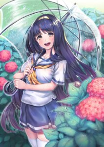 Rating: Safe Score: 24 Tags: kabu_(e90vwggy) seifuku thighhighs umbrella User: mash