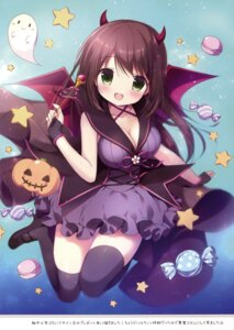 Rating: Safe Score: 45 Tags: canvas+garden cleavage dress halloween heels horns miyasaka_nako thighhighs wings User: Twinsenzw