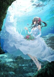 Rating: Safe Score: 33 Tags: azur_lane cleavage dress skirt_lift tagme u-47_(azur_lane) wedding_dress User: BattlequeenYume