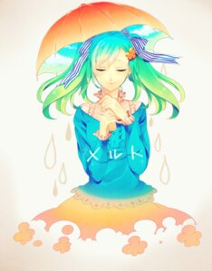 Rating: Safe Score: 18 Tags: hatsune_miku kyama melt_(vocaloid) vocaloid User: Nekotsúh
