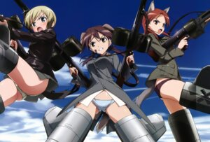 Rating: Questionable Score: 39 Tags: animal_ears erica_hartmann gertrud_barkhorn gun inumimi minna_dietlinde_wilcke pantsu strike_witches tail takamura_kazuhiro uniform User: blooregardo