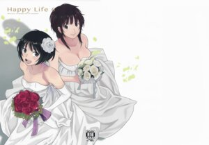 Rating: Safe Score: 29 Tags: amagami arai_kei cleavage dress kansai-orange sakurai_rihoko tachibana_miya wedding_dress User: racavan