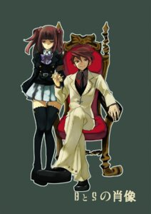 Rating: Safe Score: 14 Tags: gm seifuku thighhighs umineko_no_naku_koro_ni ushiromiya_ange ushiromiya_battler User: 洛井夏石