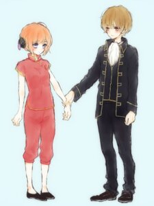 Rating: Safe Score: 5 Tags: asian_clothes gintama kagura okita_sougo User: Anemone