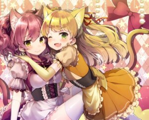 Rating: Safe Score: 43 Tags: animal_ears jougasaki_mika jougasaki_rika maid nekomimi tail the_idolm@ster the_idolm@ster_cinderella_girls thighhighs vsi0v User: Mr_GT