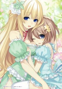 Rating: Questionable Score: 25 Tags: blanc choujigen_game_neptune dress thighhighs tsunako vert User: Radioactive