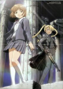 Rating: Safe Score: 10 Tags: crease fixme gun gunslinger_girl henrietta_(gunslinger_girl) ishii_kumi triela User: Radioactive