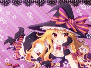 Rating: Safe Score: 33 Tags: halloween kirisame_marisa nunucco thighhighs touhou witch User: Nekotsúh
