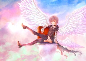 Rating: Safe Score: 28 Tags: dress heels puma_(hyuma1219) stockings thighhighs wings User: Mr_GT