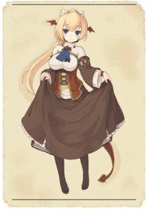 Rating: Safe Score: 14 Tags: 7010 devil dress pantyhose skirt_lift tail wings User: yumichi-sama