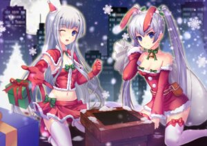 Rating: Safe Score: 53 Tags: animal_ears bunny_ears christmas cleavage garter inia_sestina jayfjfz muvluv muvluv_alternative thighhighs total_eclipse yashiro_kasumi User: lichtzhang