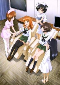Rating: Safe Score: 20 Tags: akiyama_yukari girls_und_panzer isuzu_hana nishizumi_miho nurse pantyhose reizei_mako seifuku takebe_saori thighhighs User: drop