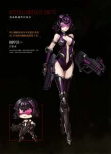 Rating: Questionable Score: 8 Tags: chibi cleavage girls_frontline gun heels leotard mecha_musume no_bra tagme thighhighs User: Radioactive