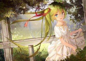 Rating: Safe Score: 79 Tags: dress hatsune_miku kilo_(pixiv) skirt_lift vocaloid User: Mr_GT