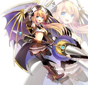 Rating: Safe Score: 29 Tags: cleavage heels nekoame thighhighs weapon wings User: mash