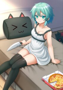 Rating: Safe Score: 44 Tags: cleavage dress kazenokaze sinon sword_art_online thighhighs User: Mr_GT