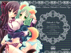 Rating: Questionable Score: 14 Tags: animal_ears garden hakutou inumimi kasuga_sakurako nekomimi otokawa_sayo pantsu tail wallpaper yuri User: admin2