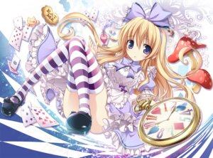 Rating: Safe Score: 69 Tags: alice alice_in_wonderland dress karory thighhighs User: Mr_GT