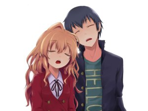 Rating: Safe Score: 21 Tags: aisaka_taiga kagari takasu_ryuuji toradora! wallpaper User: Radioactive