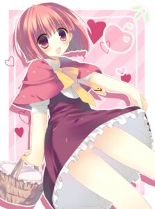 Rating: Safe Score: 19 Tags: akai_ringo dress kinoko ookami-san pantsu User: fairyren
