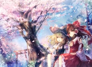 Rating: Safe Score: 49 Tags: hakurei_reimu kirisame_marisa onineko touhou User: Radioactive