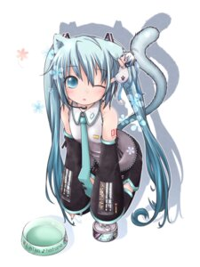 Rating: Safe Score: 48 Tags: akino animal_ears hatsune_miku nekomimi tail thighhighs vocaloid User: Hentar