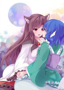 Rating: Safe Score: 53 Tags: animal_ears dress imaizumi_kagerou japa mermaid monster_girl tail touhou wakasagihime yuri User: Mr_GT