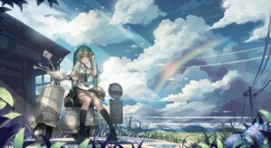 Rating: Safe Score: 47 Tags: hatsune_miku landscape monono vocaloid User: hobbito