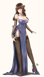 Rating: Safe Score: 64 Tags: dress girls_frontline heels qbz-95 stockings thighhighs zhishi_ge_fangzhang User: Mr_GT