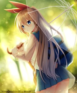 Rating: Safe Score: 82 Tags: ass kaho_okashii kirisaki_chitoge nisekoi pantsu seifuku umbrella User: fairyren