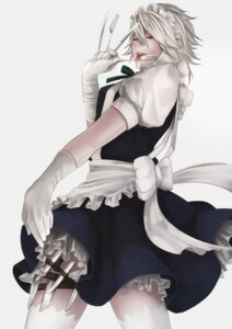 Rating: Safe Score: 5 Tags: izayoi_sakuya maid pochiharu thighhighs touhou User: Mr_GT
