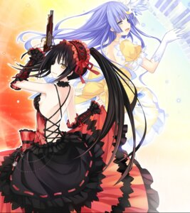 Rating: Safe Score: 76 Tags: date_a_live dress gothic_lolita gun heterochromia izayoi_miku lolita_fashion no_bra skirt_lift tokisaki_kurumi tsunako User: Mr_GT