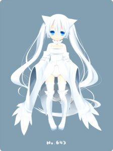 Rating: Safe Score: 58 Tags: animal_ears anthropomorphization dress ku nekomimi pokemon pokemon_black_and_white reshiram thighhighs User: fairyren