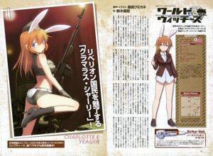 Rating: Questionable Score: 20 Tags: animal_ears ass bunny_ears charlotte_e_yeager gun heels shimada_humikane strike_witches tail uniform User: drop