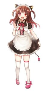 Rating: Safe Score: 33 Tags: animal_ears clarinet_(natsumi3230) maid nekomimi thighhighs User: KazukiNanako