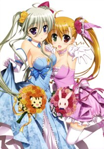 Rating: Safe Score: 52 Tags: asteion cleavage dress einhart_stratos fujima_takuya heterochromia mahou_shoujo_lyrical_nanoha mahou_shoujo_lyrical_nanoha_vivid sacred_heart thighhighs vivio User: drop