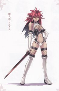 Rating: Safe Score: 32 Tags: agarest_senki bleed_through cleavage elf fishnets hirano_katsuyuki lavinia_(agarest_senki) pointy_ears thighhighs User: Radioactive