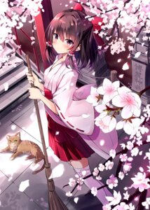Rating: Safe Score: 45 Tags: hakurei_reimu hyurasan miko neko thighhighs touhou User: hiroimo2