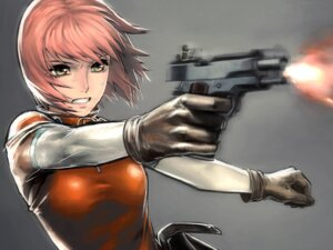 Rating: Safe Score: 36 Tags: bodysuit gun iwai_ryo mezzo_forte suzuki_mikura User: anime_love_angel