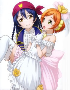Rating: Safe Score: 42 Tags: dress hoshizora_rin love_live! murota_yuuhei screening sonoda_umi thighhighs User: sjl19981006