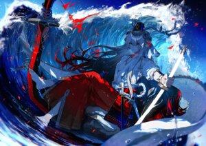 Rating: Safe Score: 4 Tags: breasts fuuna_(conclusion) horns onmyouji open_shirt sword User: Dreista