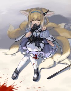 Rating: Safe Score: 7 Tags: animal_ears arknights blood dress kitsune nys tail torn_clothes User: Mr_GT