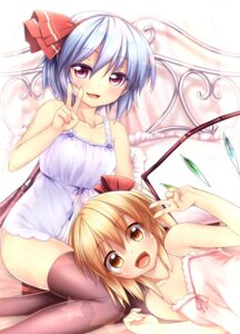 Rating: Questionable Score: 37 Tags: flandre_scarlet loli nullken remilia_scarlet thighhighs touhou User: fairyren