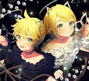 Rating: Safe Score: 15 Tags: animal_ears kagamine_len kagamine_rin nekomimi shinotarou_(nagunaguex) vocaloid User: Dreista
