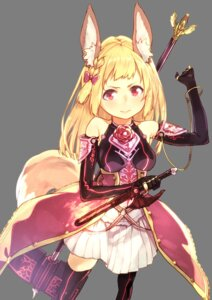 Rating: Safe Score: 38 Tags: animal_ears armor subachi tail thighhighs transparent_png weapon User: Mr_GT