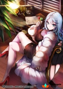 Rating: Questionable Score: 43 Tags: cleavage dress heels kanola_u qurare:magical_library User: mash