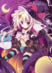 Rating: Safe Score: 63 Tags: cleavage dress halloween miruko36 thighhighs witch User: fairyren