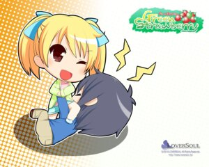 Rating: Safe Score: 6 Tags: chibi green_strawberry kokono loversoul wallpaper User: blooregardo