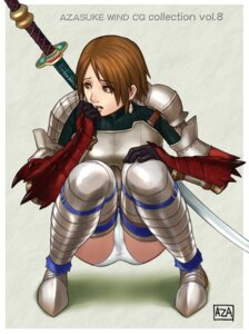 Rating: Safe Score: 14 Tags: armor azasuke azasuke_wind pantsu thighhighs User: Radioactive